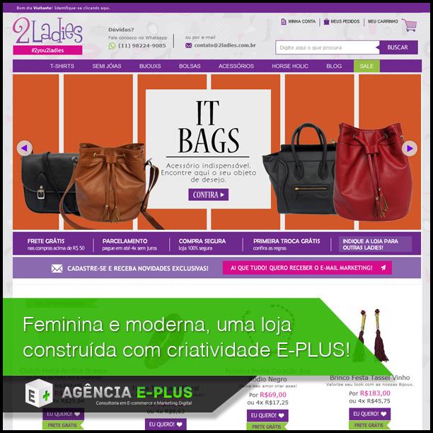 790fcc52e Loja Virtual Moda Feminina 2 Ladies - E-commerce e Marketing Digital ...