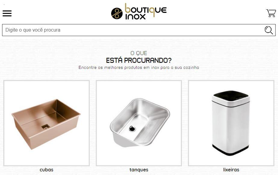 7f8816938 Boutique Inox é uma loja virtual criada pela Agência e-Plus com a Rakuten  plataforma