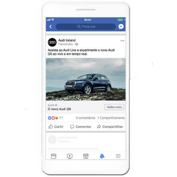 """Exemplo de anúncio do tipo """"imagem"""" no Facebook"""