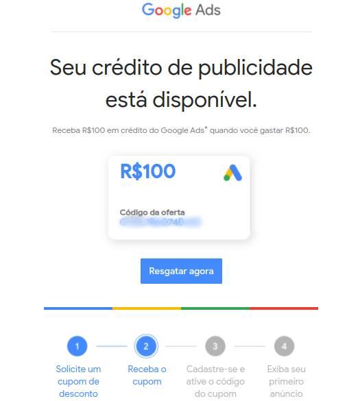Google Ads Cupom: como obter código promocional para anunciar seu  e-commerce - E-commerce e Marketing Digital: Agência E-Plus